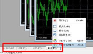 【XM】MT4で複数のチャートを表示する方法