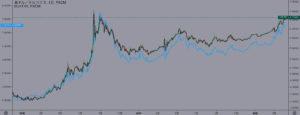XMのトルコリラ系の通貨ペアは「ほぼ完全に相関関係」
