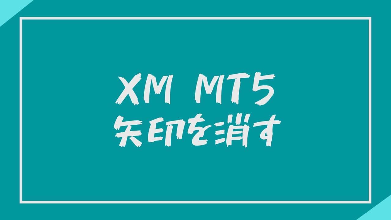 【XM】MT5に表示される「あの矢印」を消す方法を教えます。