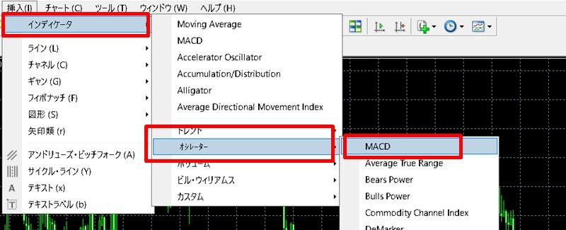 【XM】MT4・MT5でMACDを表示する方法