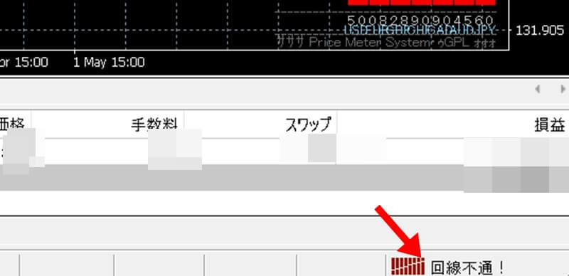 解決策② XMのサーバーのチャンネルを変えてみる