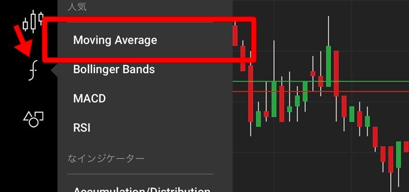 XMアプリで移動平均線を表示する方法
