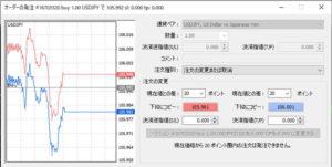 注文変更の欄で、決済指値や決済逆指値の変更