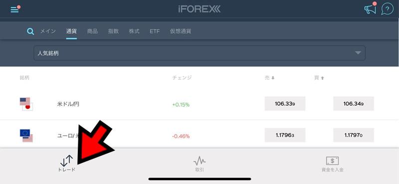 【iFOREXのアプリから取引】成行注文の使い方