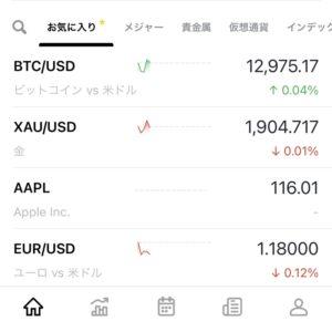 通貨ペア・銘柄の一覧